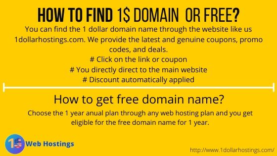 How to find 1$ domain or free_
