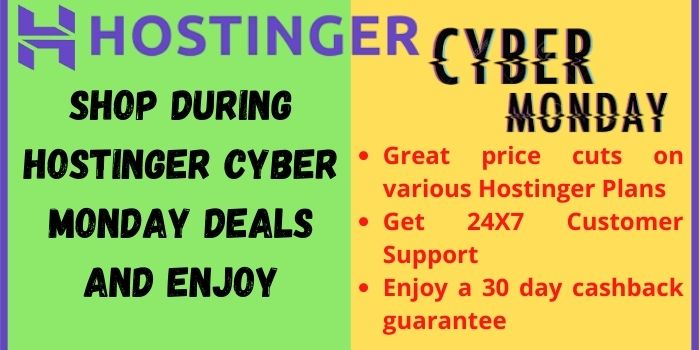 Enjoy these benefits by shopping during Hostinger Cyber Monday Sale